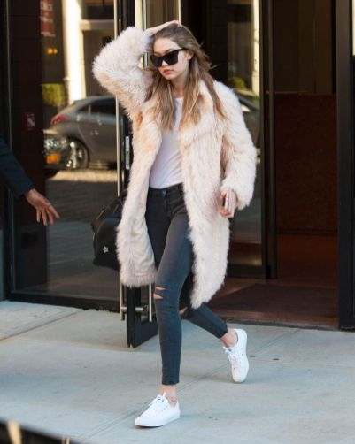 Gigi hadid sneakers outfit on the street 37