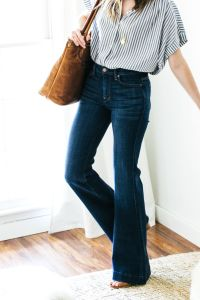 High waisted jeans outfit style 119