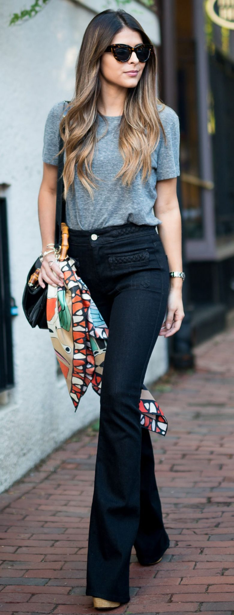 High waisted jeans outfit style 125