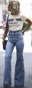 High waisted jeans outfit style 133