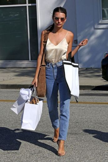 High waisted jeans outfit style 144