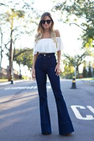 High waisted jeans outfit style 16