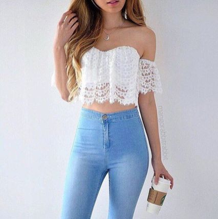High waisted jeans outfit style 26
