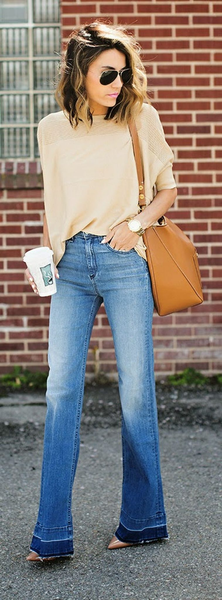 High waisted jeans outfit style 32