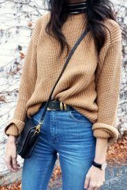 High waisted jeans outfit style 49