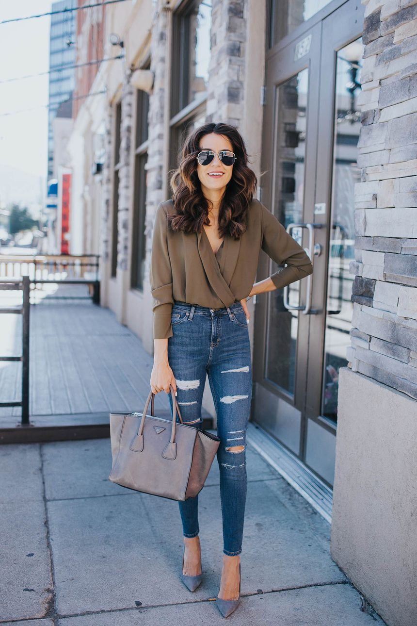 High waisted jeans outfit style 55