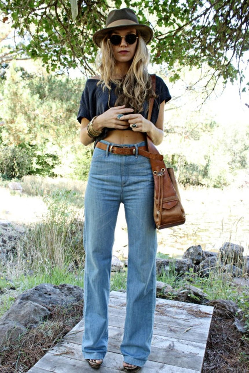 High waisted jeans outfit style 61