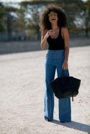 High waisted jeans outfit style 63