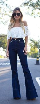 High waisted jeans outfit style 7