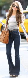 High waisted jeans outfit style 86