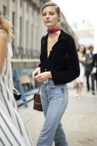 High waisted jeans outfit style 93