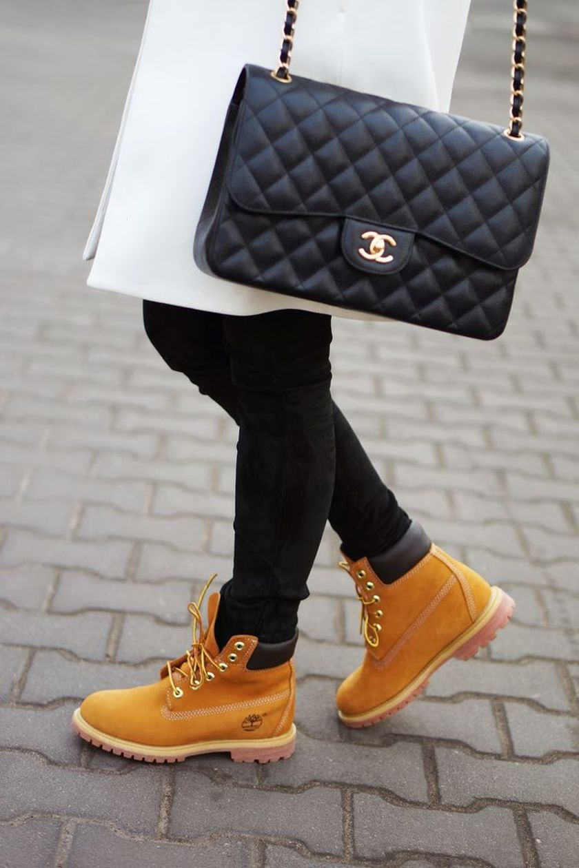 Ideas how to wear timberland boots for girl 12