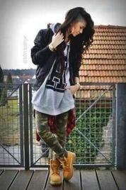 Ideas how to wear timberland boots for girl 15