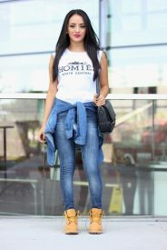 Ideas how to wear timberland boots for girl 40