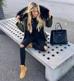 Ideas how to wear timberland boots for girl 48