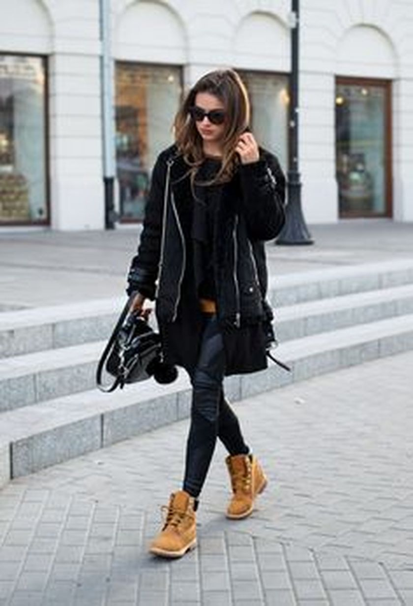 Ideas how to wear timberland boots for girl 59