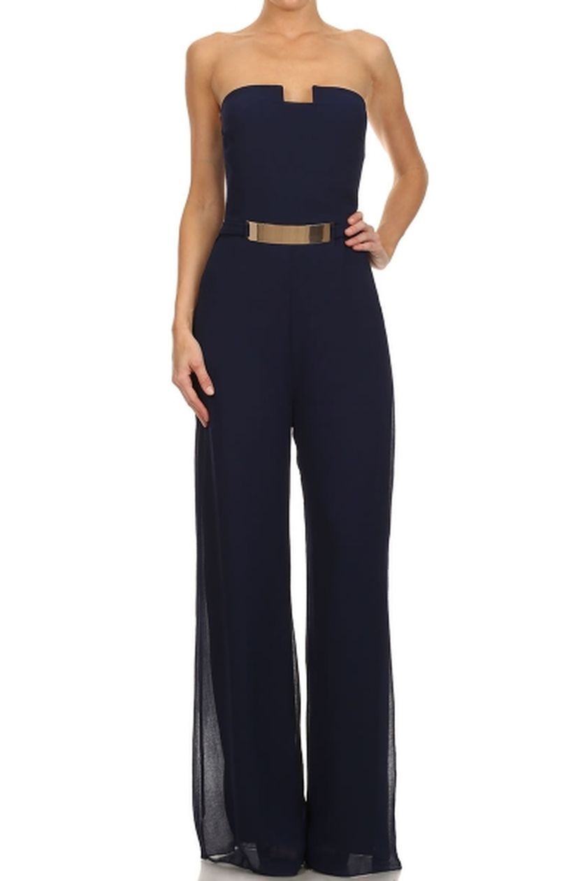 Jumpsuits strapless outfit 10