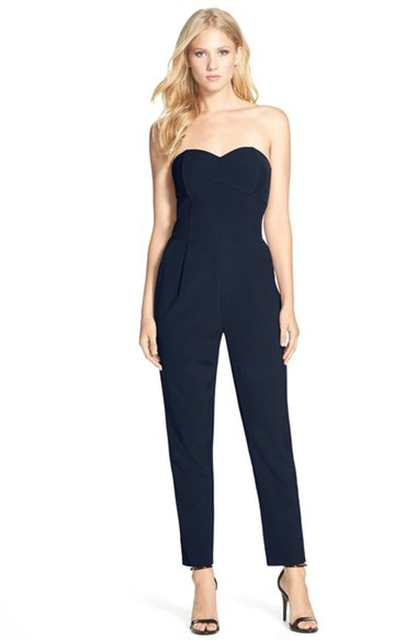 Jumpsuits strapless outfit 100