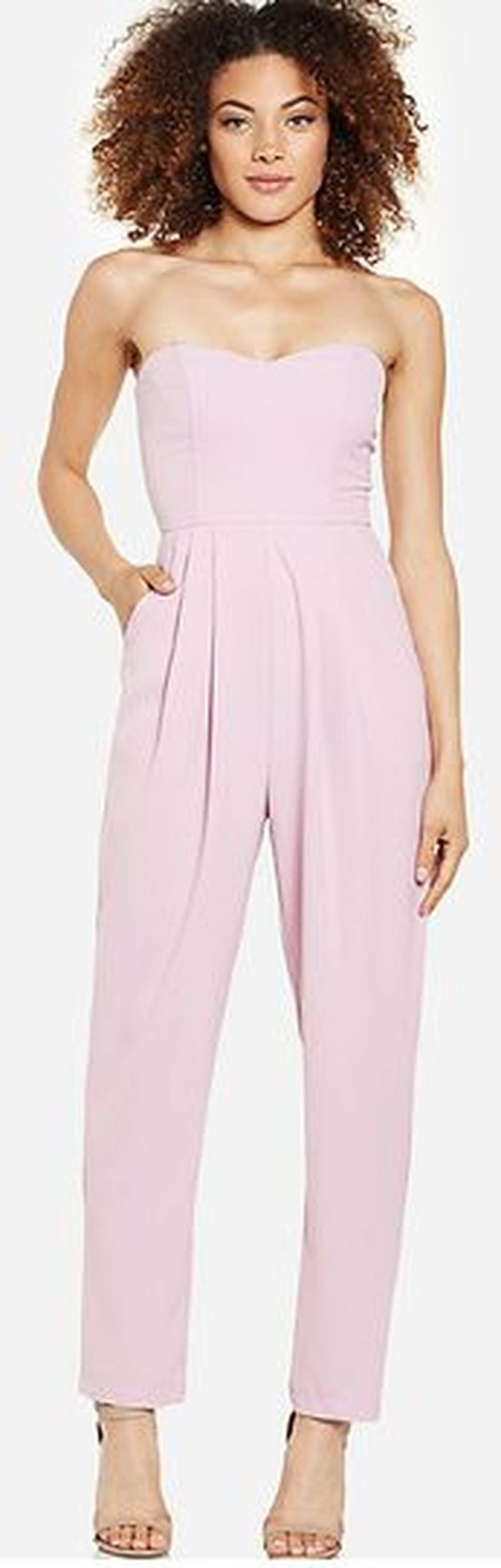 Jumpsuits strapless outfit 12