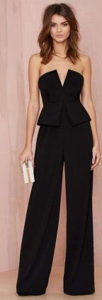 Jumpsuits strapless outfit 15