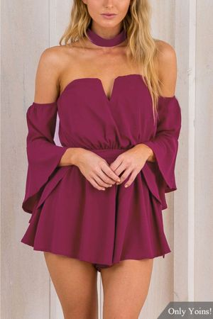 Jumpsuits strapless outfit 30