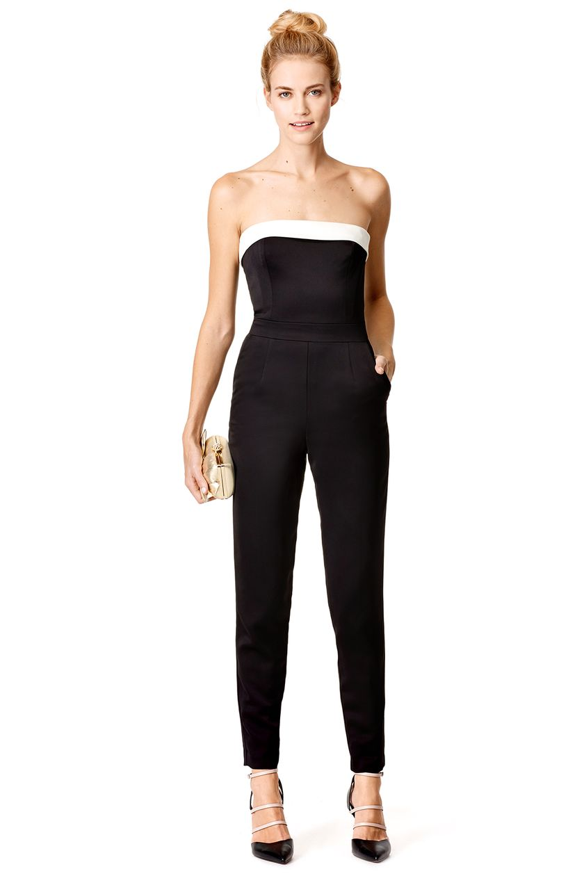 Jumpsuits strapless outfit 32