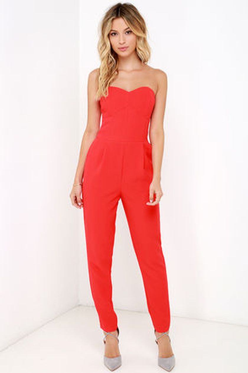 Jumpsuits strapless outfit 33