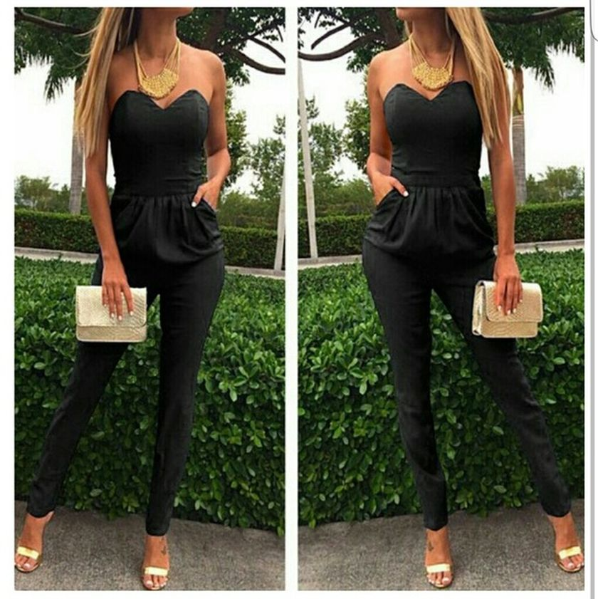Jumpsuits strapless outfit 34