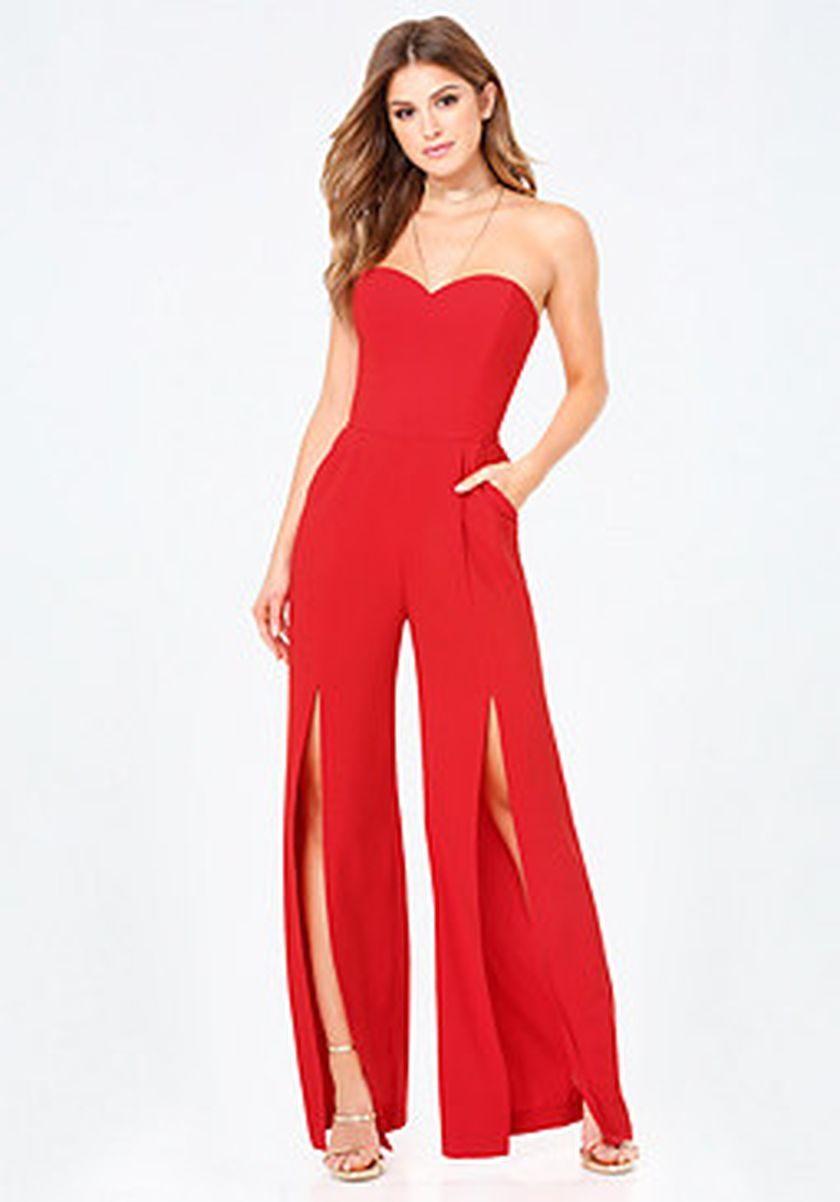 Jumpsuits strapless outfit 36