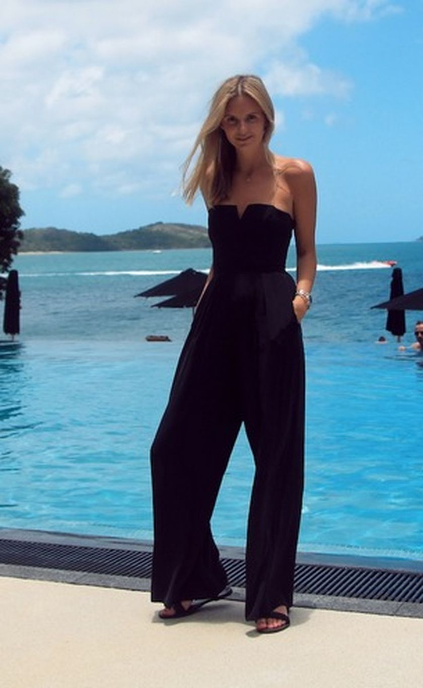 Jumpsuits strapless outfit 44