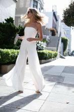 Jumpsuits strapless outfit 54