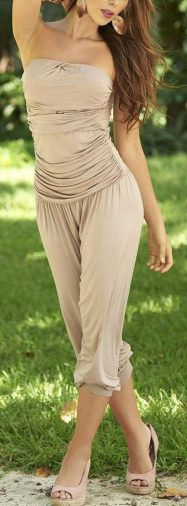Jumpsuits strapless outfit 56