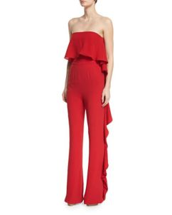 Jumpsuits strapless outfit 59