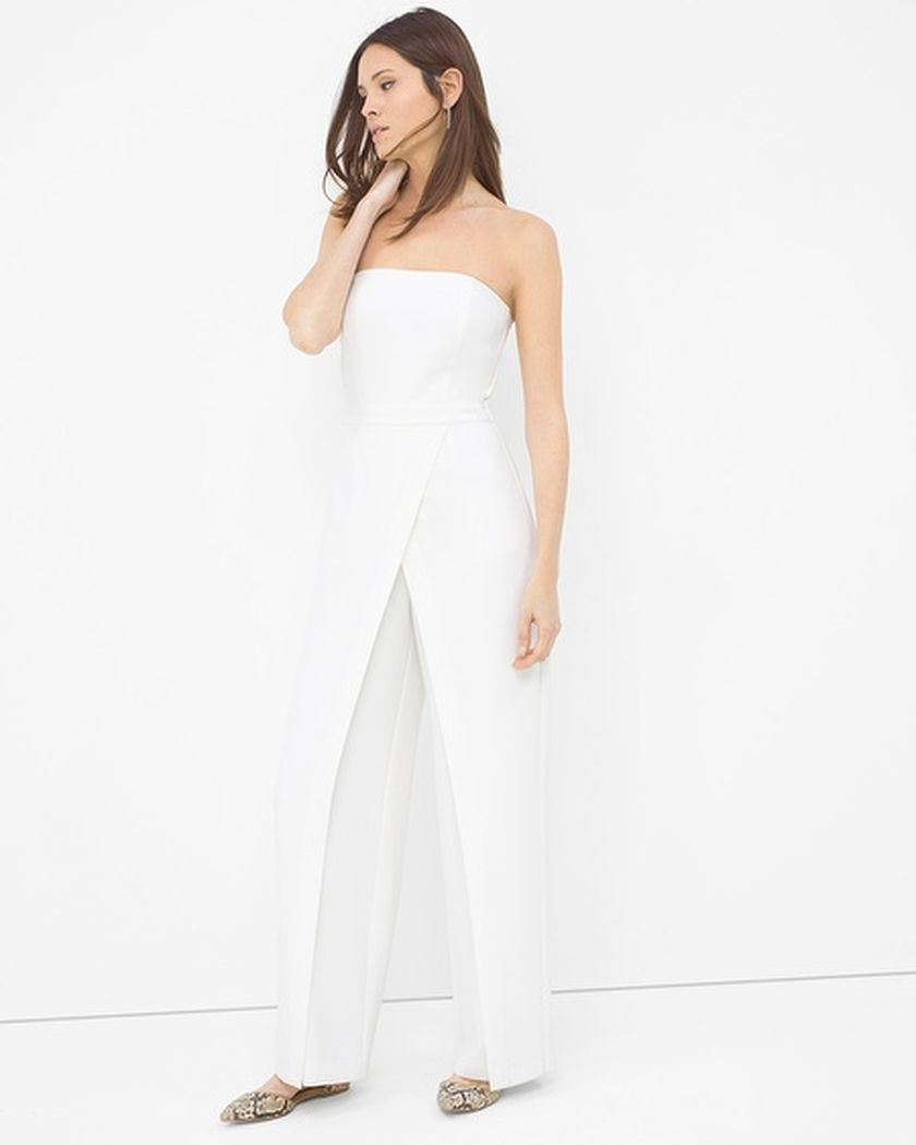 Jumpsuits strapless outfit 77