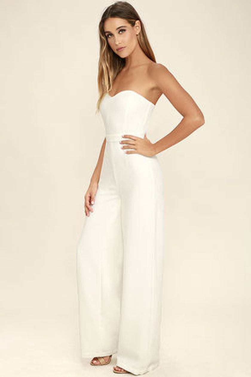 Jumpsuits strapless outfit 80