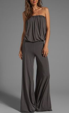 Jumpsuits strapless outfit 84