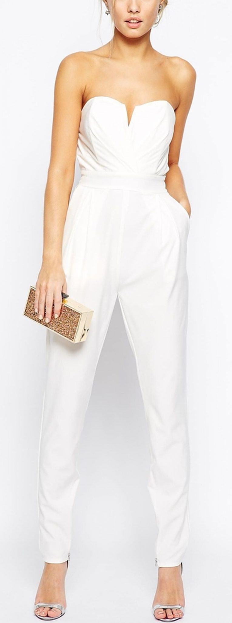Jumpsuits strapless outfit 85