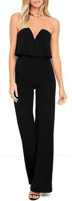 Jumpsuits strapless outfit 89