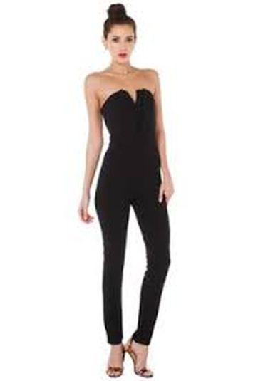 Jumpsuits strapless outfit 9