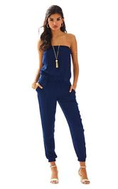 Jumpsuits strapless outfit 91