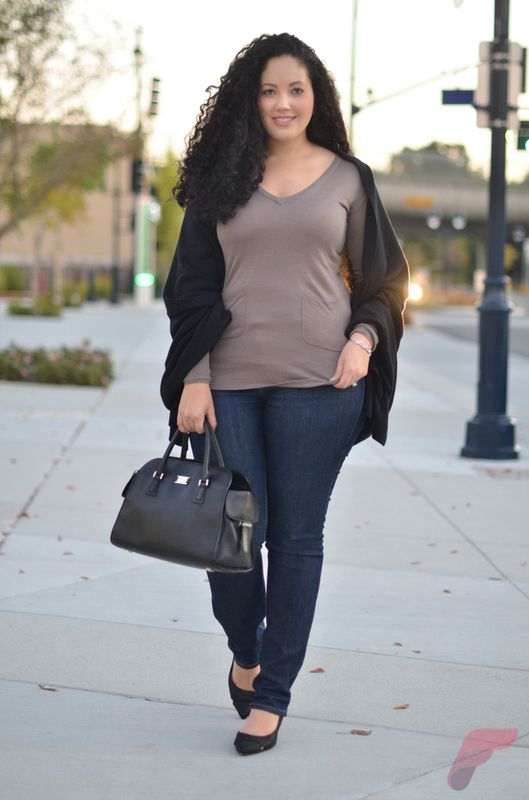 Layering outfits plus size sweaters 46