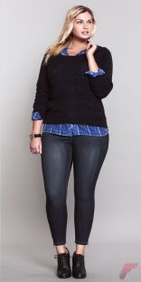 Layering outfits plus size sweaters 73