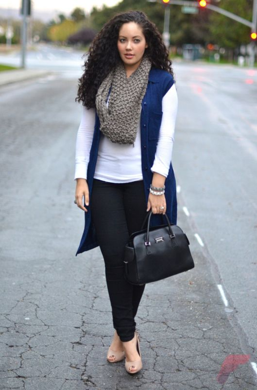 Layering outfits plus size sweaters 80