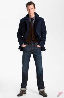 Men sport coat with jeans (100)