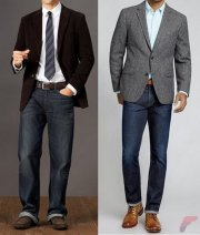 Men sport coat with jeans (114)