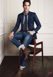 Men sport coat with jeans (170)