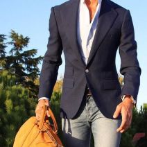 Men sport coat with jeans (83)