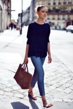Simple casual french style outfits 15