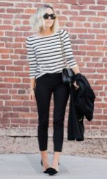 Simple casual french style outfits 41