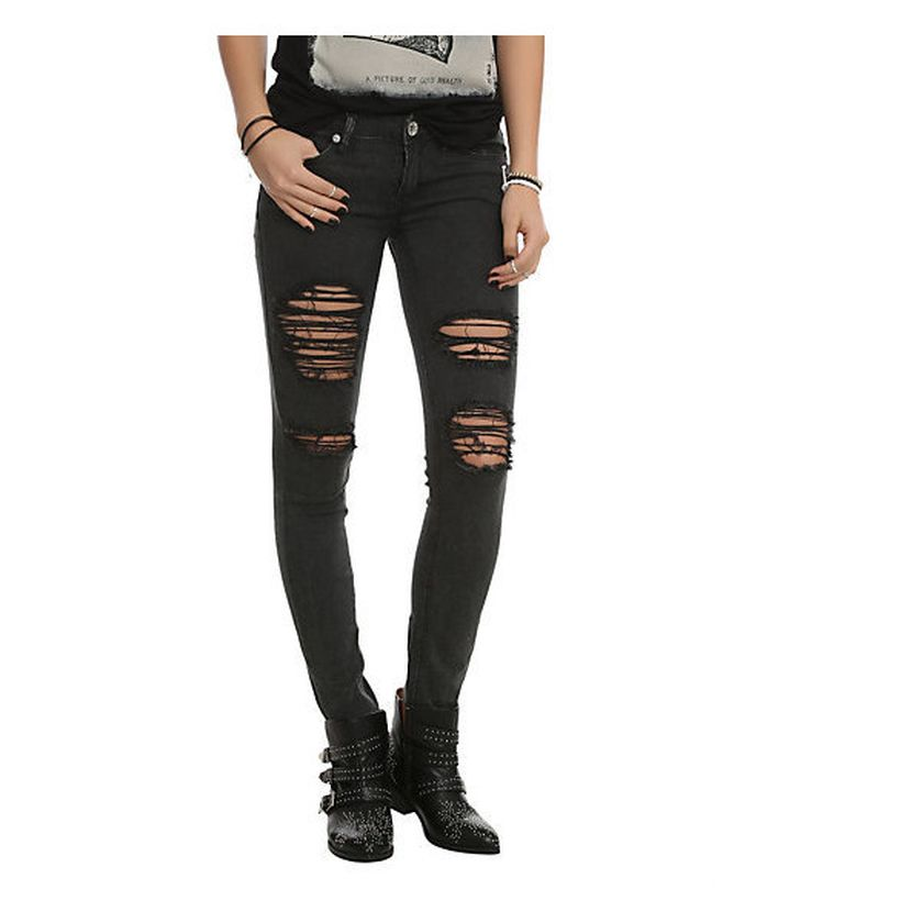 Skinny ripped jeans that will make you rock 36